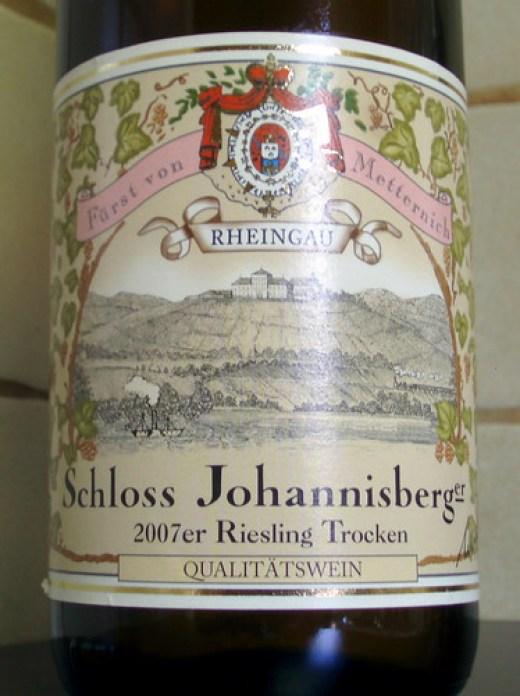 2007 Schloss Johannisberger Riesling trocken Fürst von Metternich Winneburg'sche Domäne Schloss Johannisberg Etikett