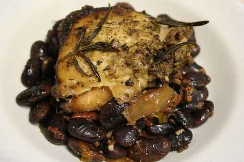 Braised Chicken with Scarlet Runner Beans
