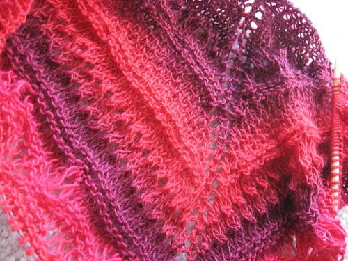 faraway shawl - wip