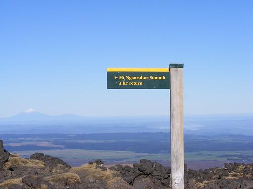 Mt. Taranaki from Mt. Ngauruhoe
