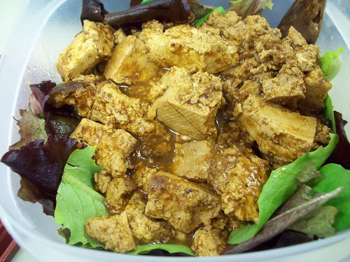 BBQ Tofu salad