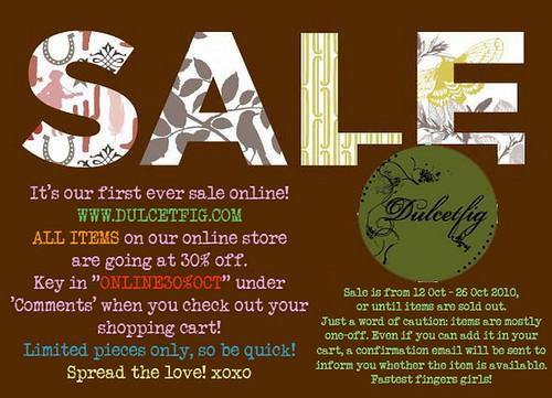 Dulcetfig Online Sale 12-26 Oct 2010