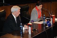 Mario Vargas Llosa y Pilar Reyes