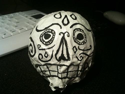 Day of the Dead Skulls -  White Unsure
