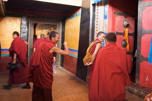 Tibetan Monks Joke Around