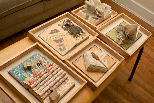 Altered books - the framing begins
