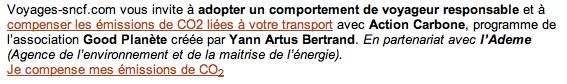 Voyages-sncf.com vous invite à adopter un comportement de voyageur responsable et à compenser les émissions de CO2 liées à votre transport