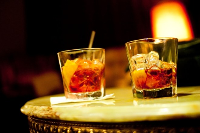Negronis at The Black Pearl