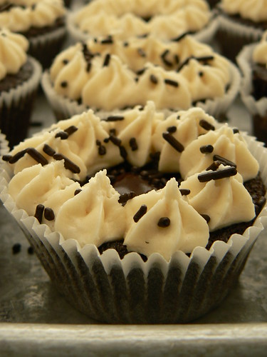 Chocolate Whiskey and Beer Cupcakes with Baileys Frosting