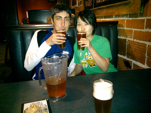 Hitomi and Elias with Beer