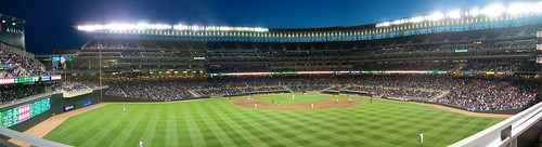 Panorama from our seats