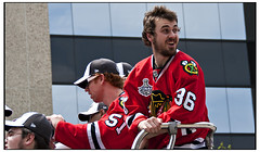 Blackhawks Dave Bolland and Brian Campbell