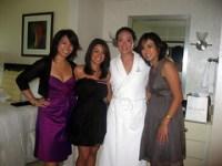 The ladies on wedding day