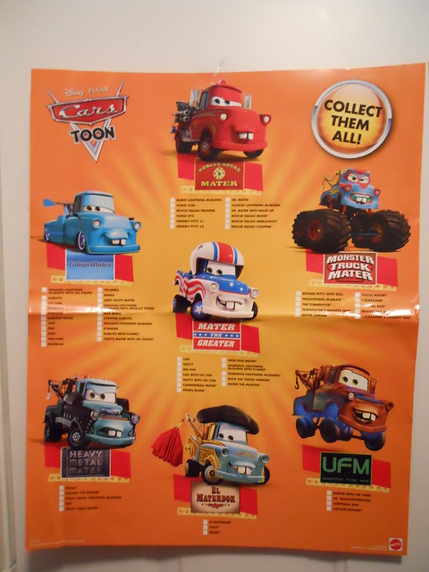 DISNEY CARS KMART COLLECTOR DAY 5 POSTERS (3)
