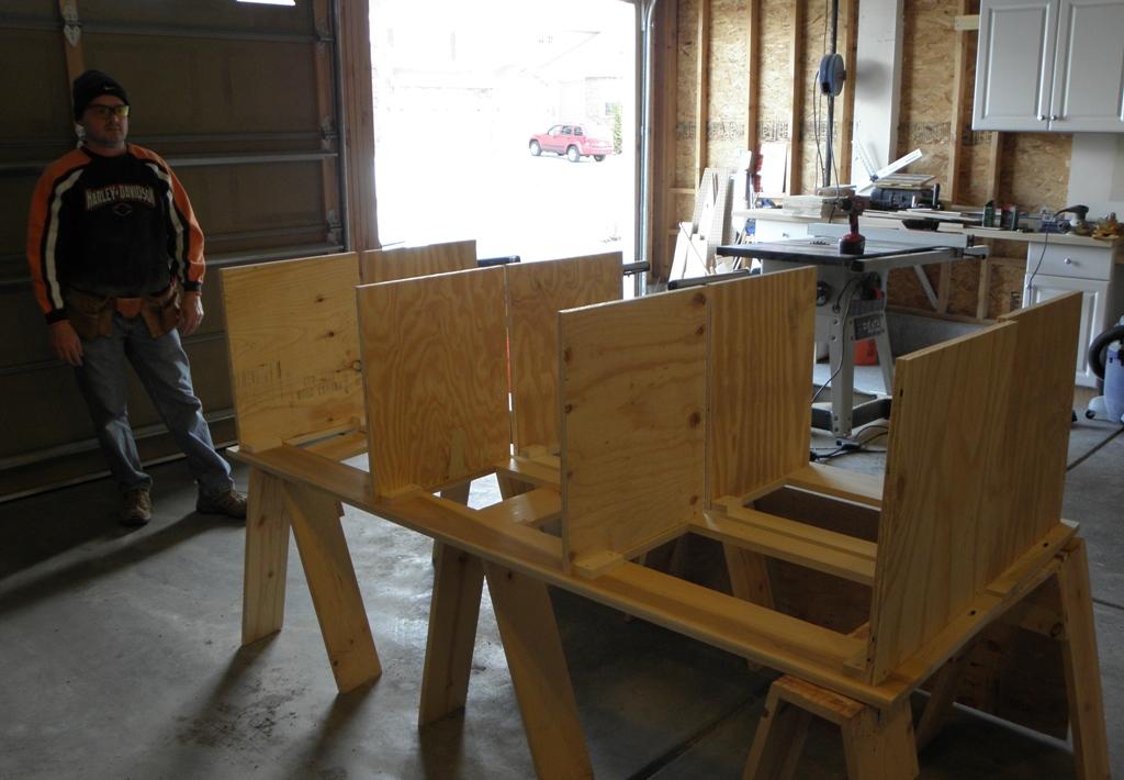 Drawer Frames During Construction