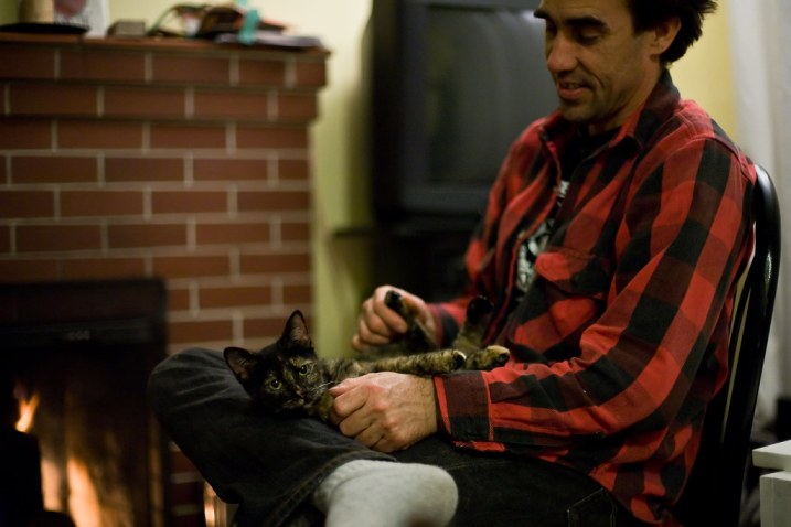 January 22, 2010 - Ben and New Cat