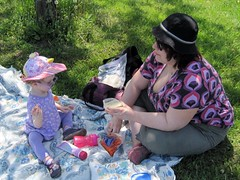 Picnic with Mummy at the park