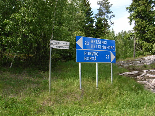 The road sign / Touring to Porvoo