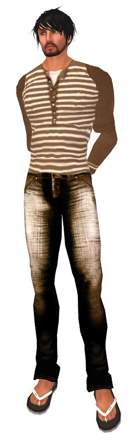 Eq Brown Jeans PP, SFD Long Sleeved Tee 25L