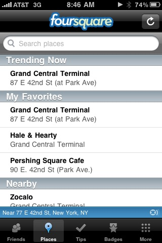 @foursquare Trending Now