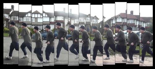 Stephen running - panel2