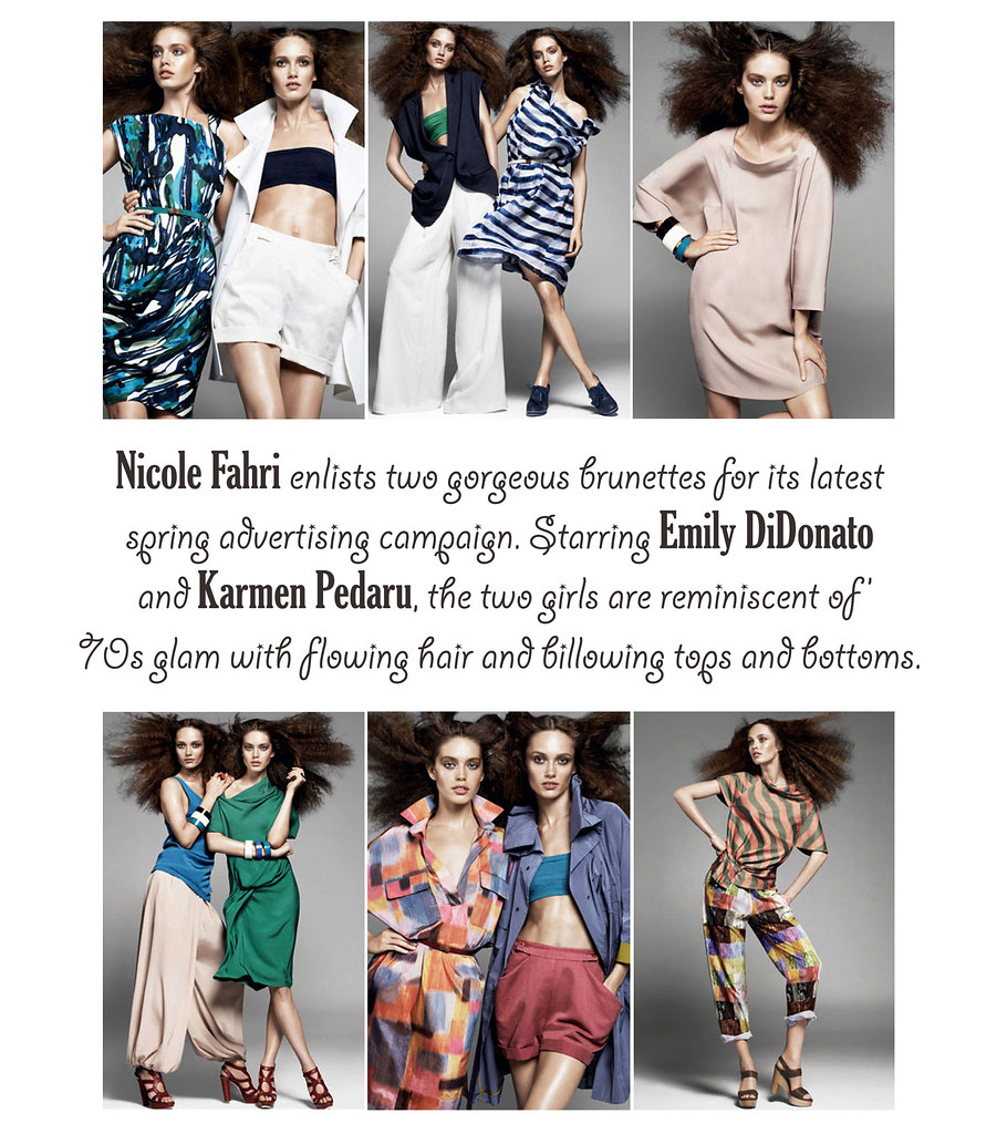 Nicole Fahri SpringSummer 2010 Campaign