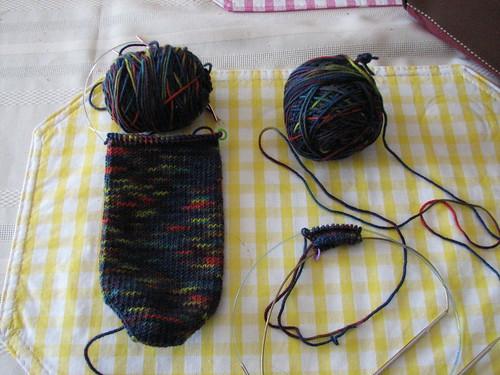 Toe up DK weight socks