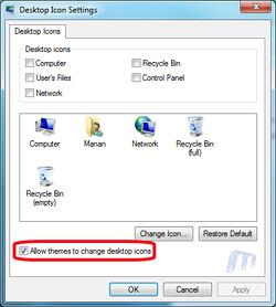 Windows 7 Theme icons Change