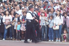 Armed police officers outside Buckingham Palace