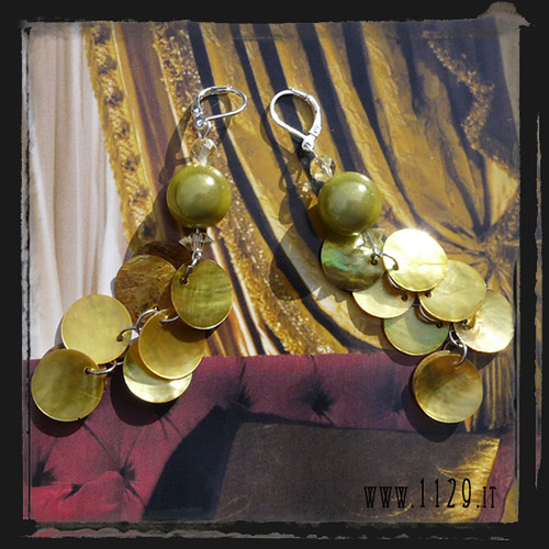 LDMAGIC orecchini verdi - green earrings 1129