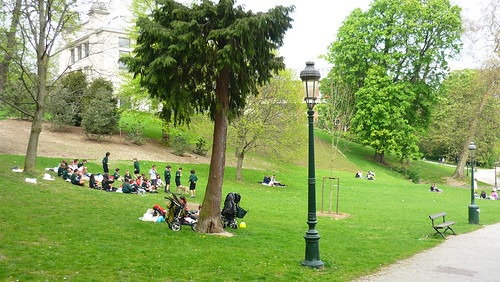 Scouts in Parc Leopold, Brussels