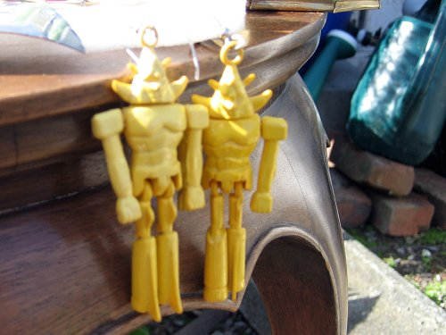 Robot earrings
