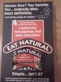 adventures of a gluten free globetrekker Eat Natural: Great New Gluten Free Packaging Gluten Free Vegetarian