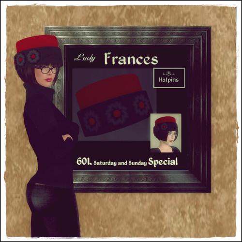 Hatpins - Lady Frances - 60 Linden Weekend