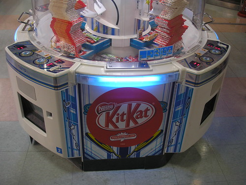 Kit Kats in a game centre in Hamamatsu