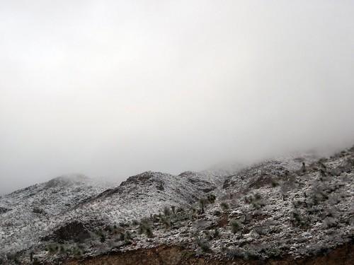 Cloudy Franklin Mountain Top
