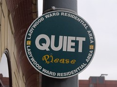 Quiet Please - Sheepcote Street - sign