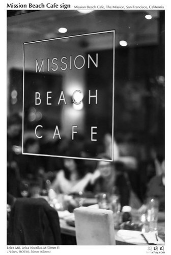 Mission Beach Cafe signage