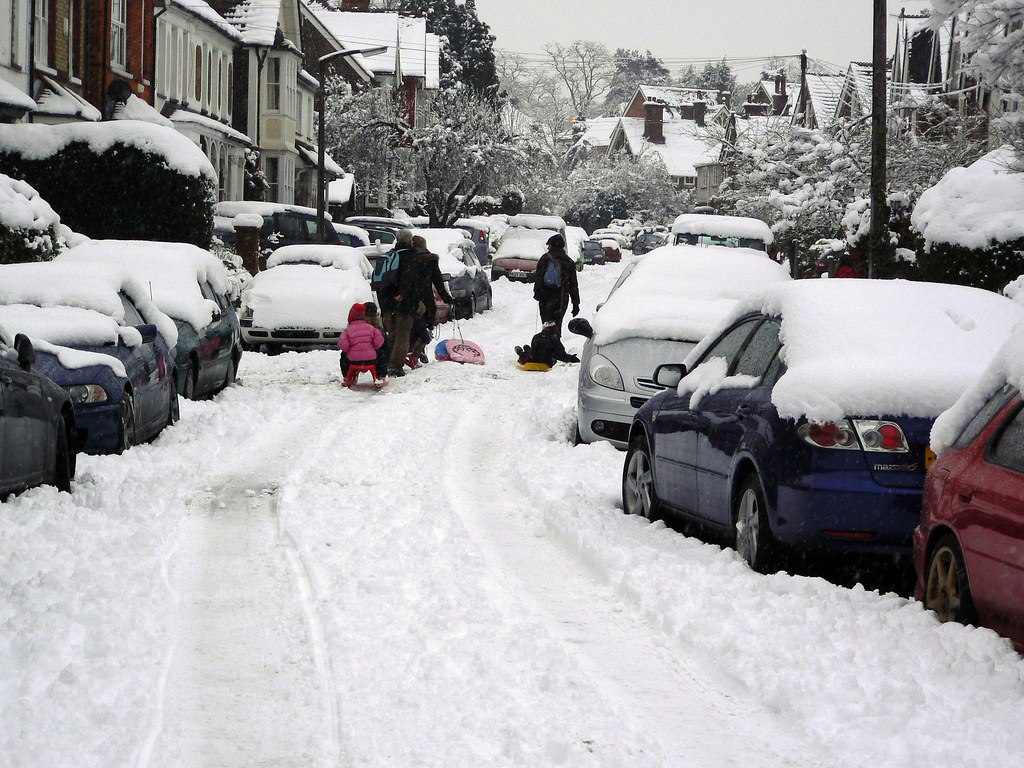 Snowy Deerings Road, Reigate