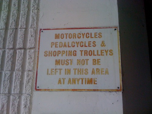motorcycles, pedalcycles & shopping trolleys