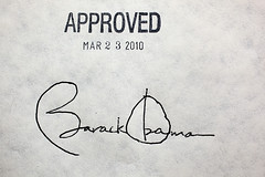 Barack Obama, March 23, 2010, Approved Healthcare coverage for America