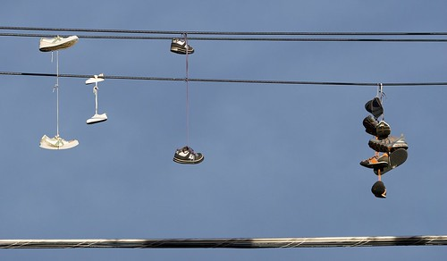 Shoes on a wire 2