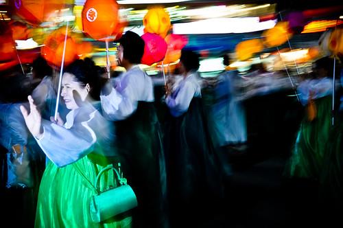 Ajumma's and their lanterns