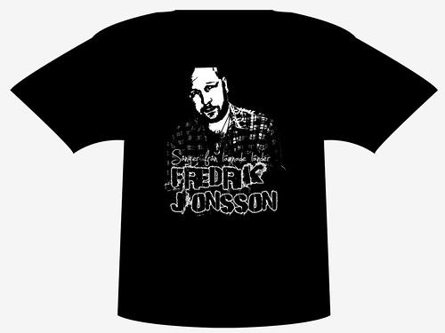 Rockig t-shirt med Fredrik Jonsson