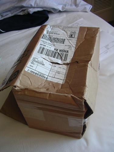 Smashed Google Nexus One box