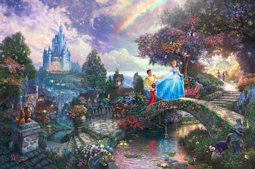 Cinderella Wishes Upon A Dream By Thomas Kinkade Disney Princesses LiveJournal