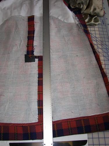 Lining Fold To Avoid Cut On