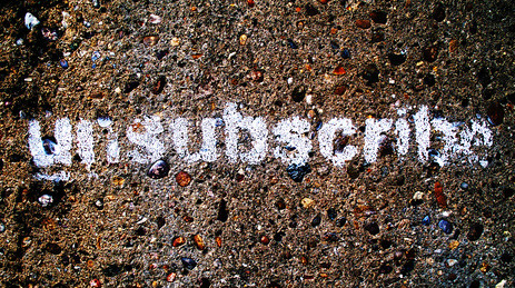 E-mail Marketing Best Practice: Must offer an unsubscribe option!