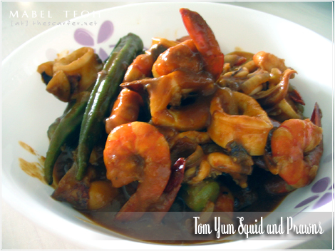 Tom Yum Squid & Prawns