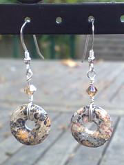 Leopardskin jasper earrings
